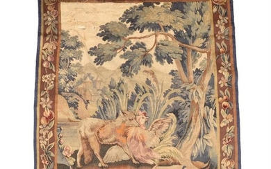 A Flemish verdure tapestry panel