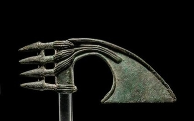 A Luristan Bronze Axe Head