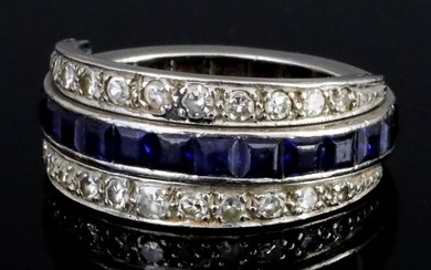 A Sapphire, Ruby and Diamond Full Eternity Ring, Modern,...