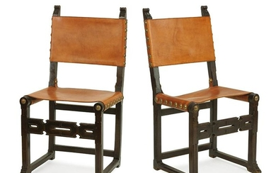 A Set of Eight French Renaissance Style Dining Chairs.