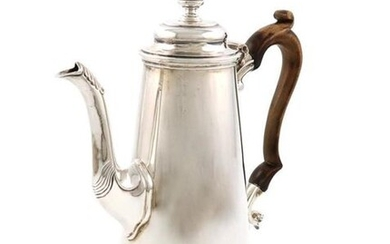A Victorian silver coffee pot, by Henry Stratford,...