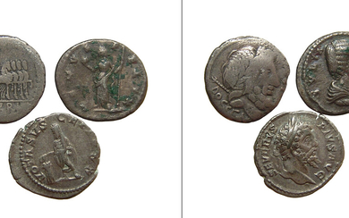 A nice group of three Roman silver coins