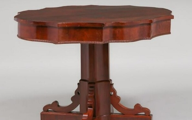 American Antique Walnut Side Table c1880s
