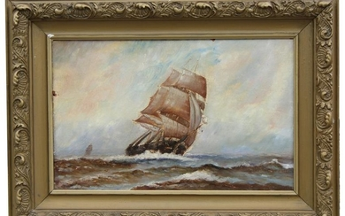 American School, Painting of Clipper Ships