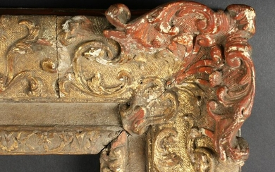 An 18th Century Carved & Gilt Composition Frame. 34.5""