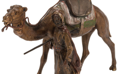 An Austrian Cold Painted Bronze Figural Group