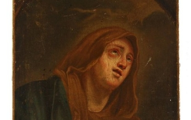 Ancient Our Lady of Sorrows of the Italian school - Oil painting on canvas - XVIIIth Century