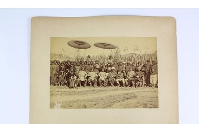 Anglo-Indian Interest - a fine group portrait of those invol...