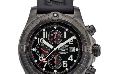 BREITLING | SUPER AVENGER, REFERENCE M13370, A LIMITED EDITION PVD COATED STAINLESS STEEL CHRONOGRAPH WRISTWATCH WITH DATE, CIRCA 2010