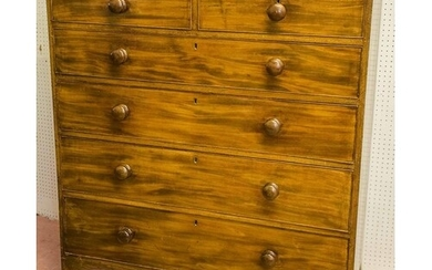 CHEST, Regency mahogany, circa 1810, of two short and four l...