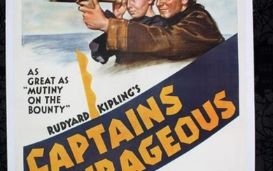 Captains Courageous (1937) US One Sheet Movie Poster LB