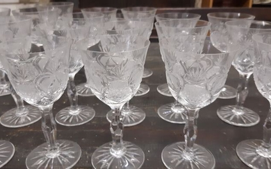 Champagne glasses, Flutes, Wine glasses - Crystal, Glass (stained glass)