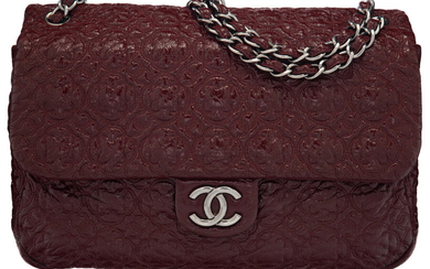 """Chanel Burgundy Quilted Calfskin Leather """"Rock in Moscow"""" Jumbo..."""