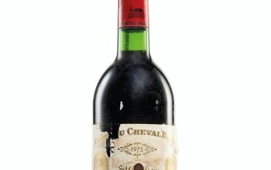 Château Cheval-Blanc 1975, Saint-Émilion, 1er grand cru classé (A) Corroded and slightly damaged capsules, bin-soiled and damaged labels, seven detached labels, two missing labels Levels three base of neck and nine top shoulder