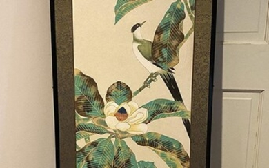 Chinese Framed Hand Painted Panel, RM2A