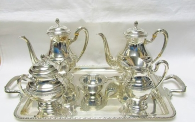 Coffee and tea service - .915 silver - 1.820 gr. - Spain - Mid 20th century