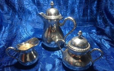 Coffee service - .800 silver - Italy - Second half 20th century