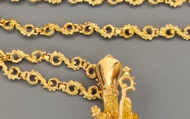 DK Yellow gold - Necklace with pendant