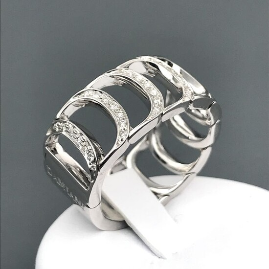 Damiani - 18 kt. White gold - Ring - 1.05 ct Diamond