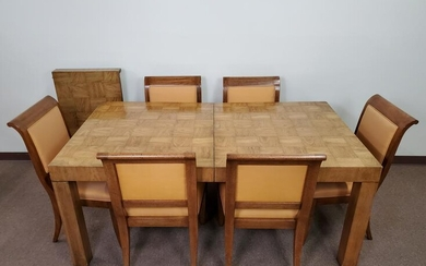 Dining Table With 6 Chairs & Table Leaf