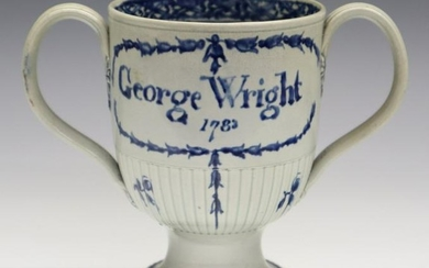 English Porcelain Loving Cup