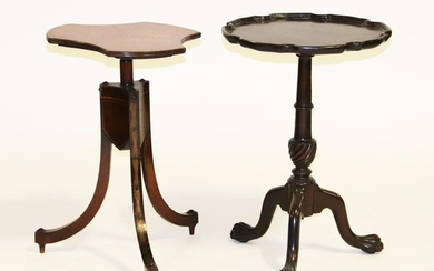 English Regency Style Stand and Chippendale Table