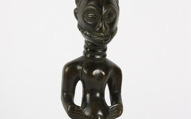 FANG AFRICAN FIGURE OF A PREGNANT WOMAN c1950s