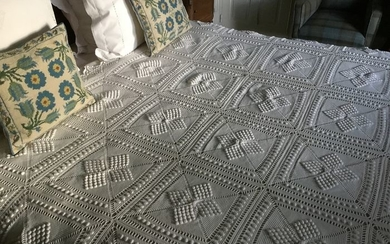 FRENCH VICTORIAN COTTON BEDCOVER - Cotton - Late 19th century