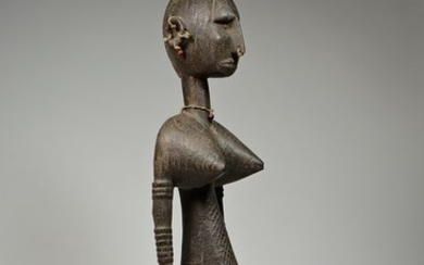 Female figure - Beads, Wood - Nyeleni - BAMANA / BAMBARA - Mali
