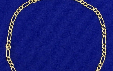 Figaro Link Anklet in 14K Yellow Gold
