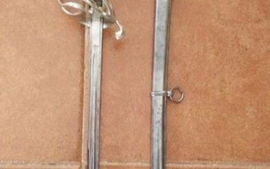 France - Mercier & Corpet Paris - 1880 - French Infantry Officer sword + scabbard. 1880s - Sword