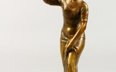 GEORGES MORIN (1874-1950) GERMAN. A GILDED BRONZE
