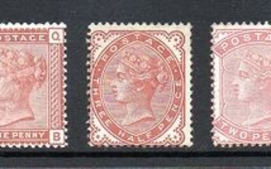 Great Britain 1880/1881 - QV Provisional Issue Complete Set Including Shades - Stanley Gibbons 164/169