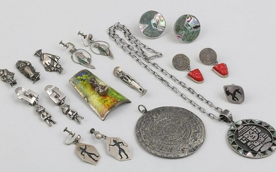 Group of (13) silver items