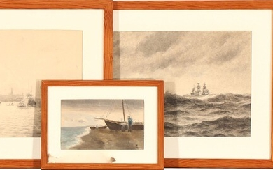Holger Lübbers: Four drawings. All signed. Various techniques and measurements. (4).