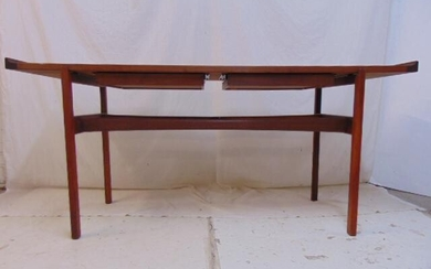 Jens Risom two drawer console table, sofa table style