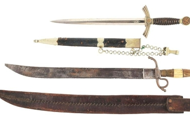LOT OF 2: GERMAN WWII LUFTWAFFE DAGGER AND UNKNOWN