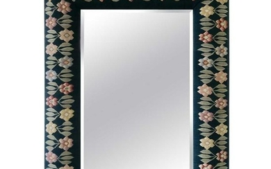 Large Floral Tapestry Mirror