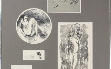 LeRoy Neiman 1921-2012 Signed Six Nudes Lithograph