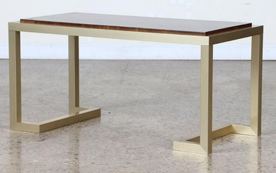 MID CENTURY MODERN FRENCH BRASS COFFEE TABLE 1970