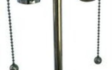 Ostrich Egg Silver Finish Deluxe Sockets Table Lamp