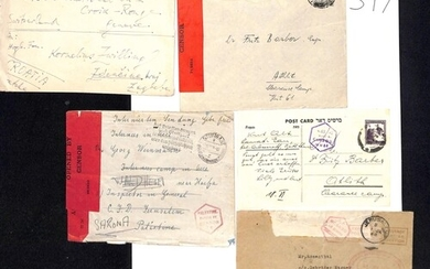Palestine. 1939-44 Covers from internees in various detentio...