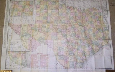 Rand, McNally New Commercial Atlas Map of Texas