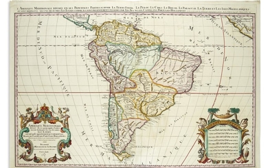(SOUTH AMERICA.) Jaillot, Alexis Hubert; after Sanson, Nicolas. Amerique Meridionale.