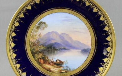 Sevres Style Cabinet Plate