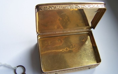 Silver musical snuff box - Silver gilt - Switzerland - Early 19th century