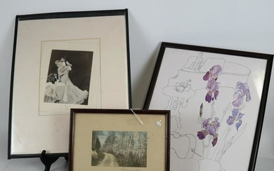 Three Framed Prints, Including Wallace Nutting