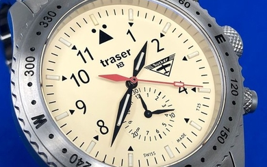 """Traser - T5 Aviator Jungmeister Chronograph with Stainless Steel BraceletSwiss Made - 100372 """"NO RESERVE PRICE"""" - Men - Brand New"""