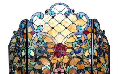 Victorian Tiffany-style StainedGlass Roses Folding