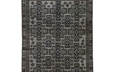 Vintage Afghan Baluch Natural Color Hand-Knotted Pure